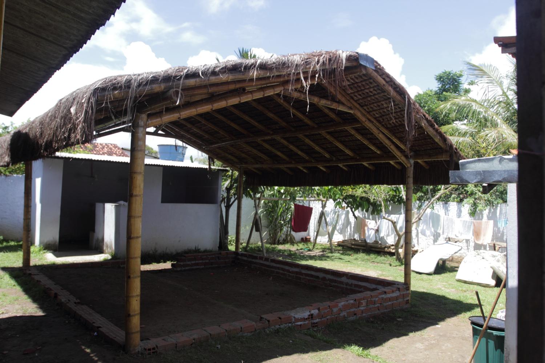 Cabana, em fase de conclusão, um dos sonhos realizados