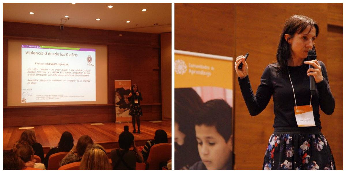 Maria Padrós, da Universidade de Barcelona, destacou formas de lidar com conflitos na escola.