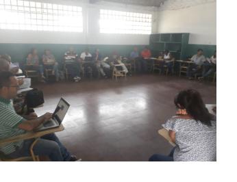 Maestras y maestros de las sedes Gabriela Mistral y Liceo Comercial Femenino